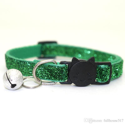 Quick Release Sparkle Glitter Safe Cat Collar with Bell