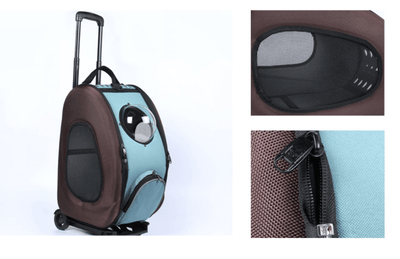 Small Animal Travel Carrier & Trolley With Viewing Bubble