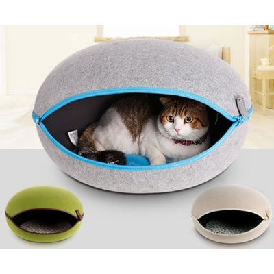 $79.00 - EGG CAT BED CAVE (3) TRAVEL PETS