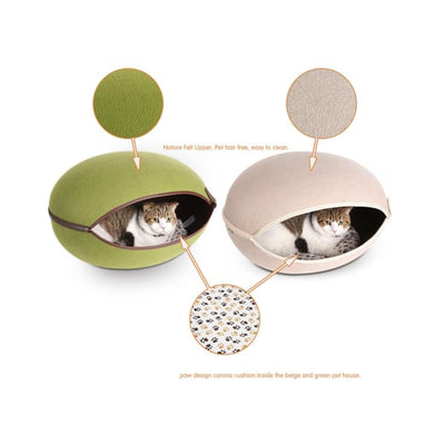 $79.00 - EGG CAT BED CAVE (2) TRAVEL PETS