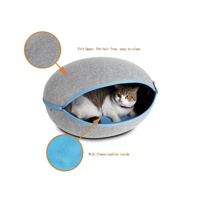 $79.00 - EGG CAT BED CAVE (10) TRAVEL PETS