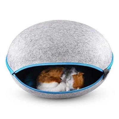 $79.00 - EGG CAT BED CAVE GREY 2KG (5) TRAVEL PETS