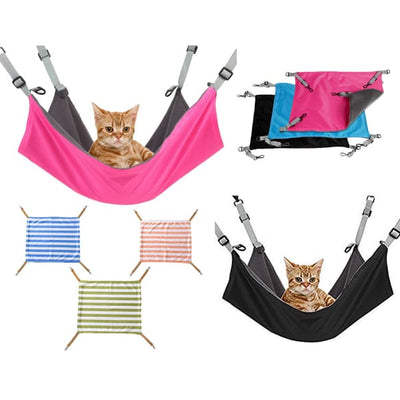 $34.95 - COMFORTABLE SOFT COZY HANGING HAMMOCK FOR SMALL CATS (2) TRAVEL PETS
