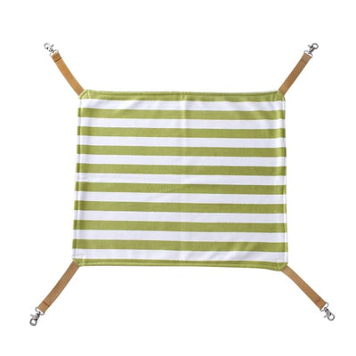 $34.95 - COMFORTABLE SOFT COZY HANGING HAMMOCK FOR SMALL CATS GREEN & WHITE 0.25KG (9) TRAVEL PETS