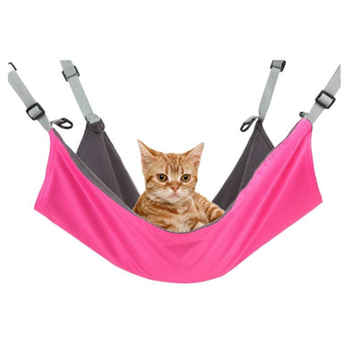 $34.95 - COMFORTABLE SOFT COZY HANGING HAMMOCK FOR SMALL CATS PINK 0.25KG (3) TRAVEL PETS