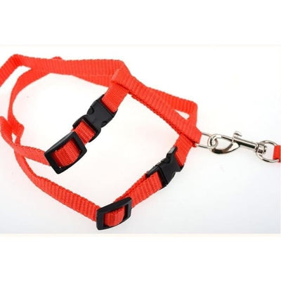 $14.50 - ADJUSTABLE CAT LEASH WITH HARNESS SET (NO ESCAPE) (15) TRAVEL PETS