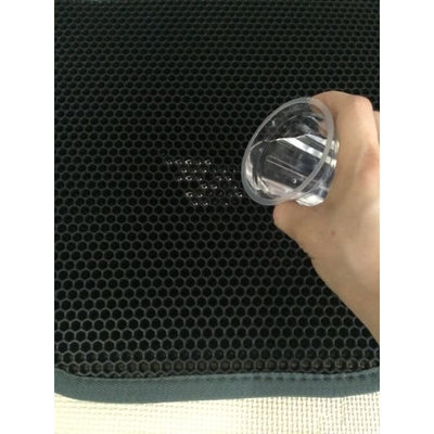 $62.50 - KITTY LITTER TRAPPING MAT - HONEYCOMB DESIGN (3) TRAVEL PETS