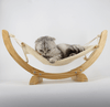 Deluxe Cat Hammock With Wooden Frame - Stylish Pet Bed