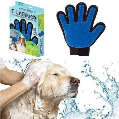 $18.50 - TRUE TOUCH 5-FINGER DESHEDDING GLOVE (AS SEEN ON TV) (5) TRAVEL PETS