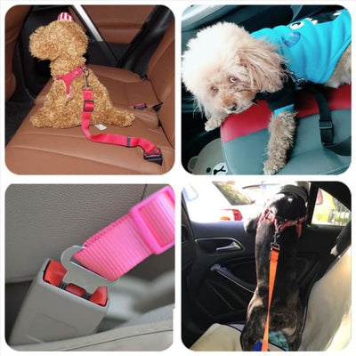 $14.50 - DOG CAR SEAT BELT - KEEPS YOUR DOG SAFE DURING CAR RIDES (3) TRAVEL PETS
