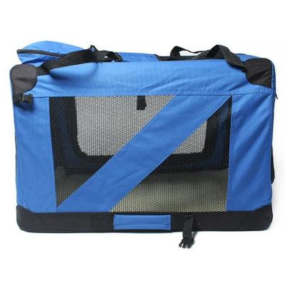 $109.95 - XXL FOLDABLE SOFT-SIDED PET/DOG CRATE BLUE 5KG (10) TRAVEL PETS