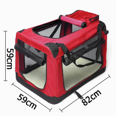 $109.95 - XXL FOLDABLE SOFT-SIDED PET/DOG CRATE (2) TRAVEL PETS