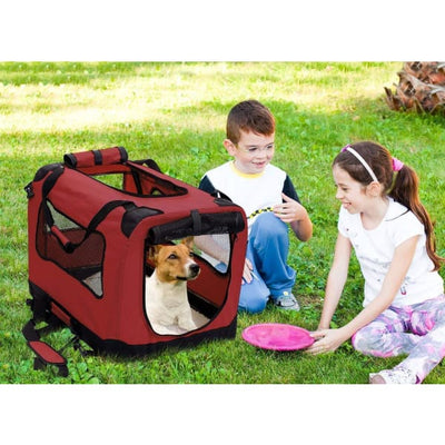 $109.95 - XXL FOLDABLE SOFT-SIDED PET/DOG CRATE (14) TRAVEL PETS