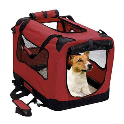 $109.95 - XXL FOLDABLE SOFT-SIDED PET/DOG CRATE RED 5KG (1) TRAVEL PETS