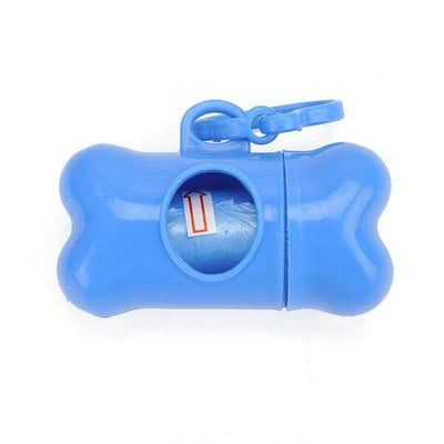 $14.95 - DOG POOP BAG DISPENSER W/ FREE BIODEGRADABLE DOG POOP BAGS LIGHT BLUE 0KG (9) TRAVEL PETS
