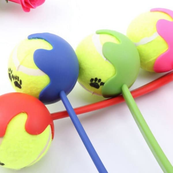 $16.50 - DOG TENNIS BALL TOY LAUNCHER WITH FREE (1) TENNIS BALL BLUE 0.8KG (1) TRAVEL PETS
