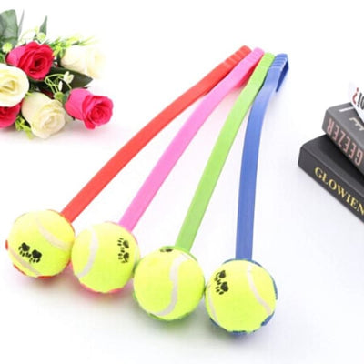 $16.50 - DOG TENNIS BALL TOY LAUNCHER WITH FREE (1) TENNIS BALL (3) TRAVEL PETS