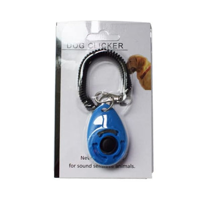 $19.99 - PET DOG TRAINING CLICKER PET TRAINER TOOL KEY CHAIN BLUE 0.2KG (7) TRAVEL PETS