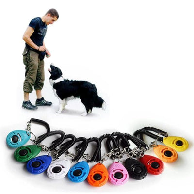 $19.99 - PET DOG TRAINING CLICKER PET TRAINER TOOL KEY CHAIN (3) TRAVEL PETS