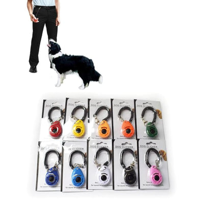 $19.99 - PET DOG TRAINING CLICKER PET TRAINER TOOL KEY CHAIN (13) TRAVEL PETS