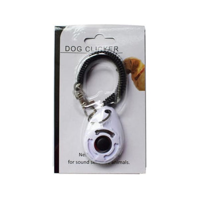 $19.99 - PET DOG TRAINING CLICKER PET TRAINER TOOL KEY CHAIN WHITE 0.2KG (8) TRAVEL PETS