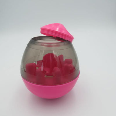 $29.95 - DOG TREAT DISPENSING INTERACTIVE BALL PINK 0.35KG (9) TRAVEL PETS