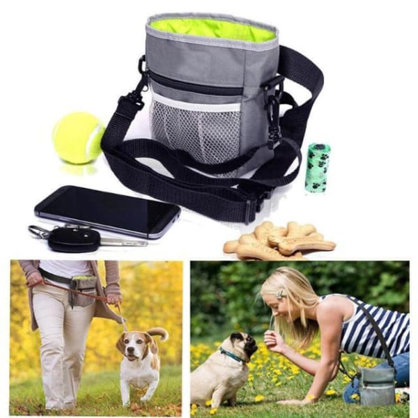 $33.50 - DOG WALKING HANDY BAG GREY 0.4KG (1) TRAVEL PETS