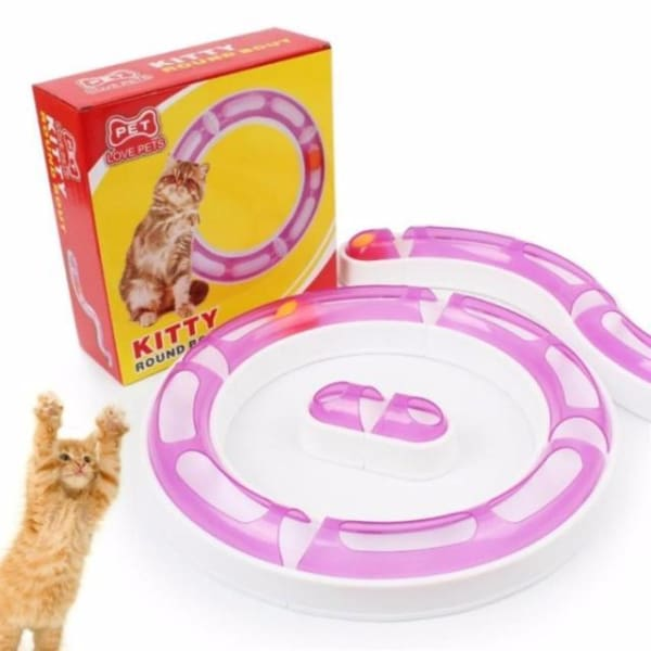 $32.75 - KITTY ROUND ABOUT INTERACTIVE CAT TOY 0.5KG (1) TRAVEL PETS