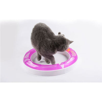 $32.75 - KITTY ROUND ABOUT INTERACTIVE CAT TOY (3) TRAVEL PETS