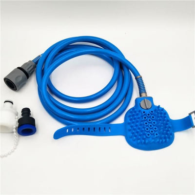 $34.95 - PET BATHING TOOL: ALL-IN-1 HOSE WASHER & SCRUBBER FOR DOGS/CATS (6) TRAVEL PETS