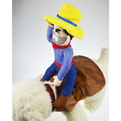 $29.95 - PET COWBOY RIDER COSTUME (4) TRAVEL PETS