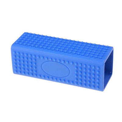 $24.95 - RECTANGLE SILICONE PET GROOMING TOOL BLUE 0KG (6) TRAVEL PETS
