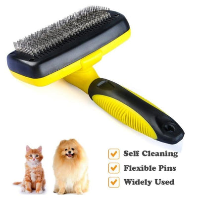 $34.95 - SELF-CLEANING SLICKER GROOMING BRUSH (1) TRAVEL PETS