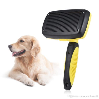 $34.95 - SELF-CLEANING SLICKER GROOMING BRUSH (3) TRAVEL PETS