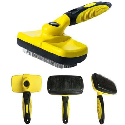 $34.95 - SELF-CLEANING SLICKER GROOMING BRUSH (8) TRAVEL PETS