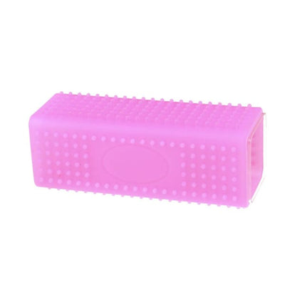 $24.95 - RECTANGLE SILICONE PET GROOMING TOOL PINK 0KG (8) TRAVEL PETS