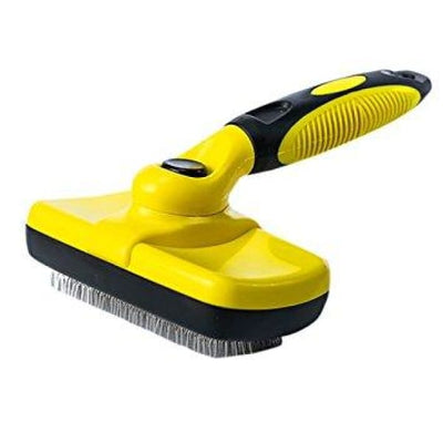 $34.95 - SELF-CLEANING SLICKER GROOMING BRUSH YELLOW 0.5KG (9) TRAVEL PETS