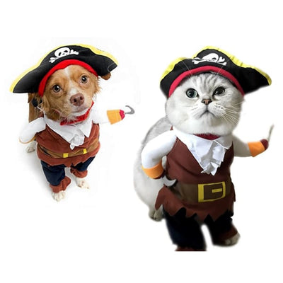 $19.99 - PIRATE CAPTAIN COSTUME FOR CATS & DOGS (2) TRAVEL PETS