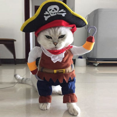 $19.99 - PIRATE CAPTAIN COSTUME FOR CATS & DOGS (5) TRAVEL PETS