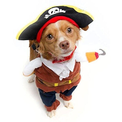 $19.99 - PIRATE CAPTAIN COSTUME FOR CATS & DOGS (4) TRAVEL PETS