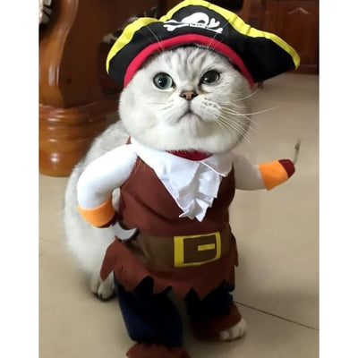 $19.99 - PIRATE CAPTAIN COSTUME FOR CATS & DOGS (3) TRAVEL PETS