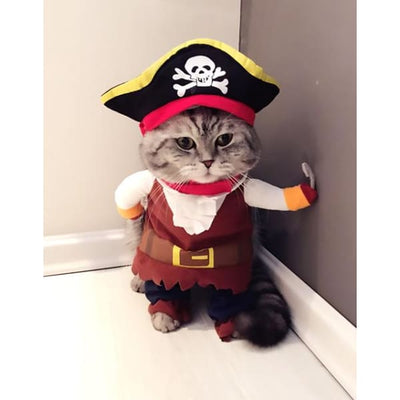 $19.99 - PIRATE CAPTAIN COSTUME FOR CATS & DOGS (7) TRAVEL PETS