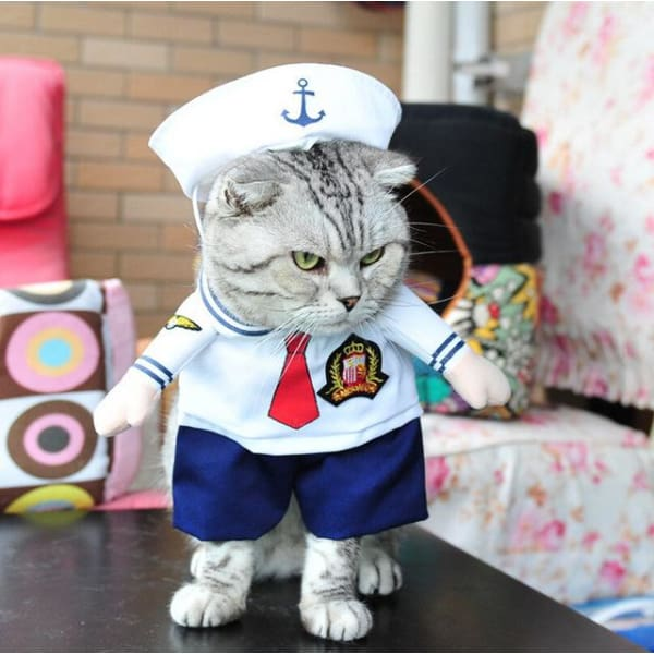 $19.99 - SAILOR CAT/DOG COSTUME 0KG (1) TRAVEL PETS