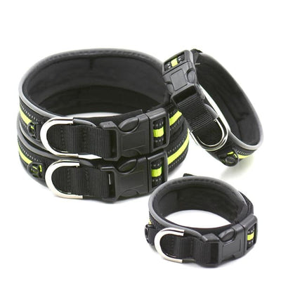 $19.75 - REFLECTIVE DOG COLLAR WITH WETSUIT MATERIAL (8) TRAVEL PETS