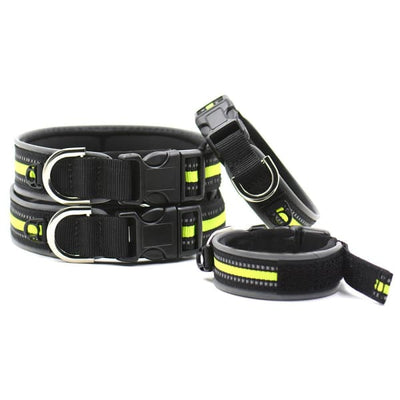 $19.75 - REFLECTIVE DOG COLLAR WITH WETSUIT MATERIAL (7) TRAVEL PETS