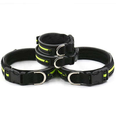 $19.75 - REFLECTIVE DOG COLLAR WITH WETSUIT MATERIAL (10) TRAVEL PETS