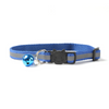 $12.50 - REFLECTIVE SAFETY BREAKAWAY ADJUSTABLE CAT COLLAR WITH BELL BLUE 0.1KG (4) TRAVEL PETS