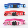 $11.00 - CUTE PAW PRINT SAFETY BREAKAWAY ADJUSTABLE SAFE CAT COLLAR WITH BELL BLUE 0.1KG (3) TRAVEL PETS