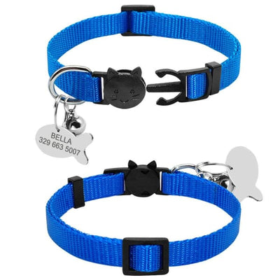 $13.75 - SAFETY BREAKAWAY QUICK RELEASE CAT COLLAR WITH BELL - ADJUSTABLE (17) TRAVEL PETS