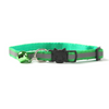 $12.50 - REFLECTIVE SAFETY BREAKAWAY ADJUSTABLE CAT COLLAR WITH BELL GREEN 0.1KG (7) TRAVEL PETS